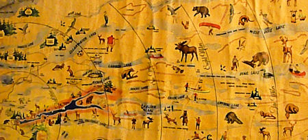 Detailed section of Ye Map of Camp Bearskin