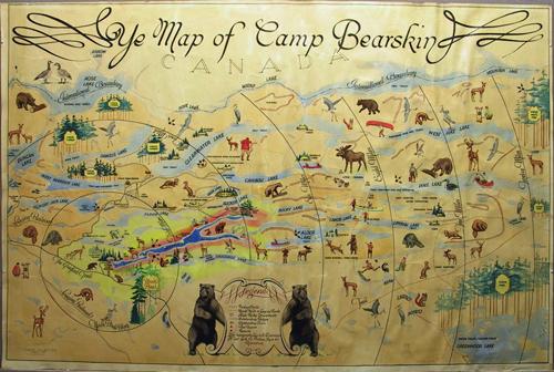 Deframed Camp Bearskin Map