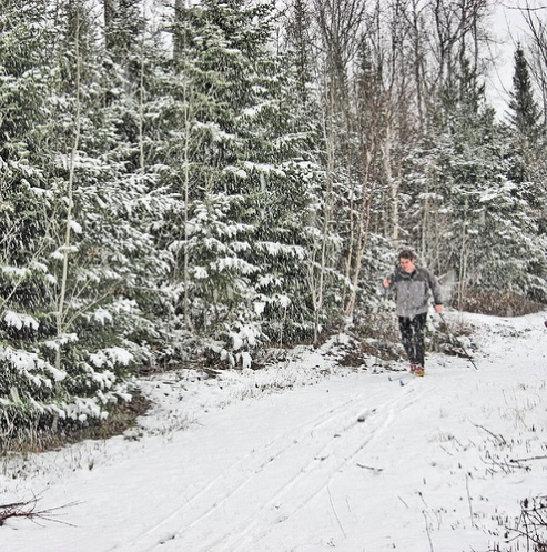 First ski of theseason